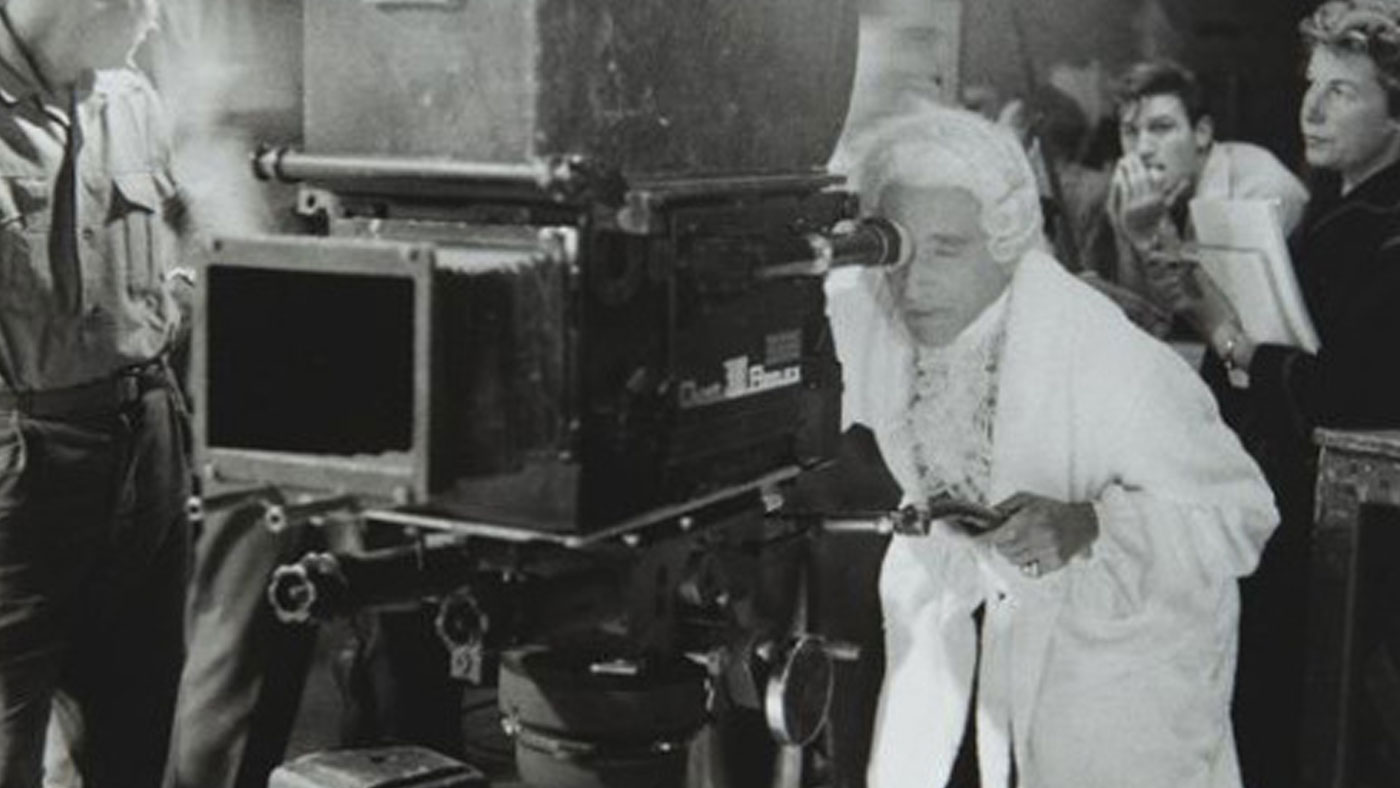 """French filmmaker Jean Cocteau filming """"The Testament of Orpheus"""" in 1959"""