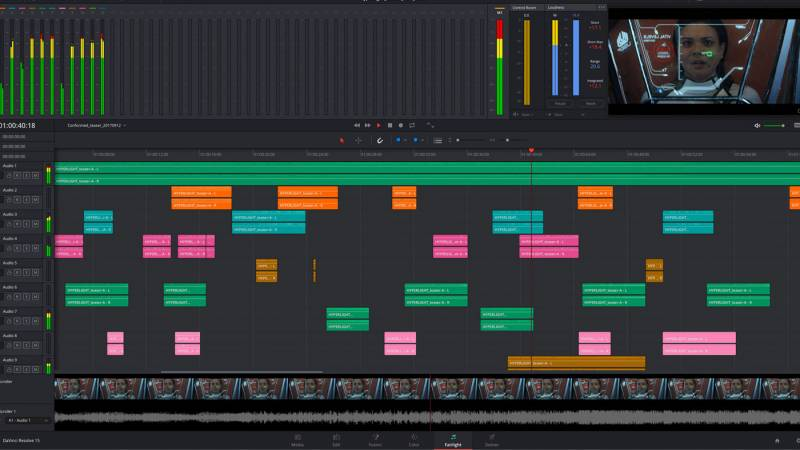 Screen shot of Davinci Resolve