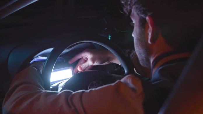 AL-MW being used in a car