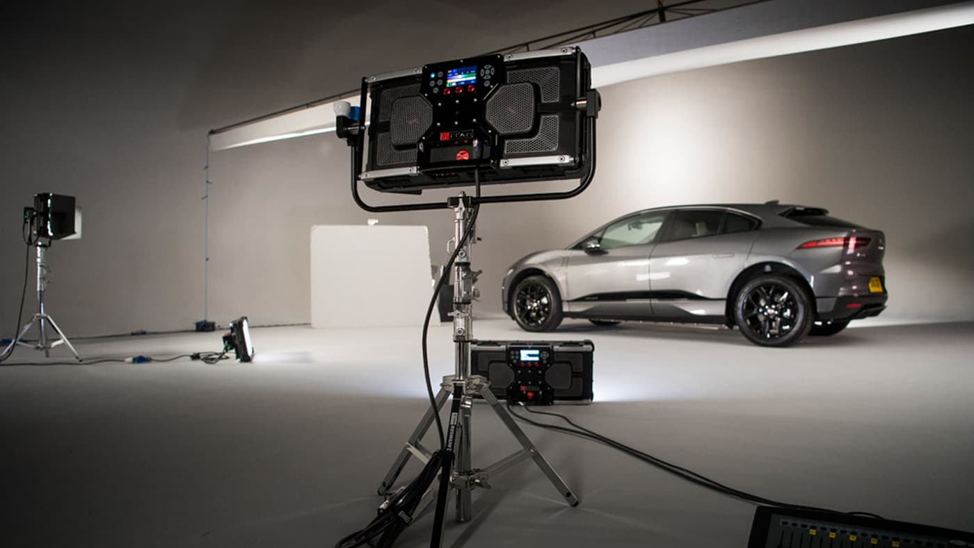 Titan X2 lighting a car in a studio