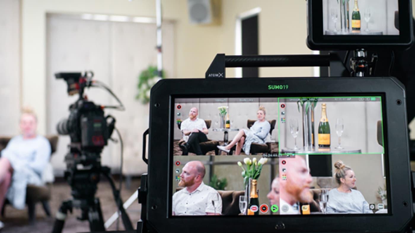 Atomos' Sumo 19 being used on set