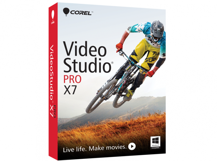 Box shot of Corel Video Studio Pro X7