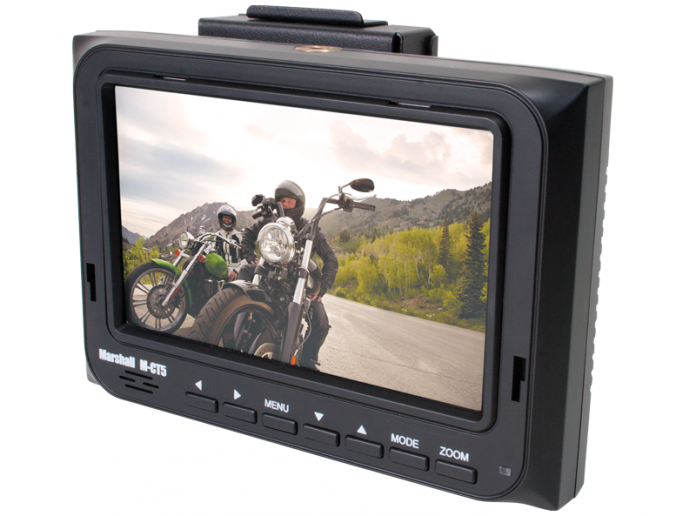 Marshall Electronics M-CT5 Field Monitor with motorcycle riders image in LCD Monitor