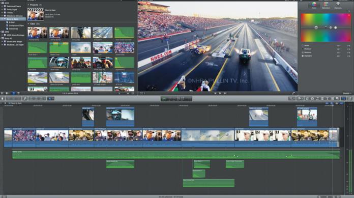 Screen capture of the Apple Final Cut Pro X 10.1 editing program