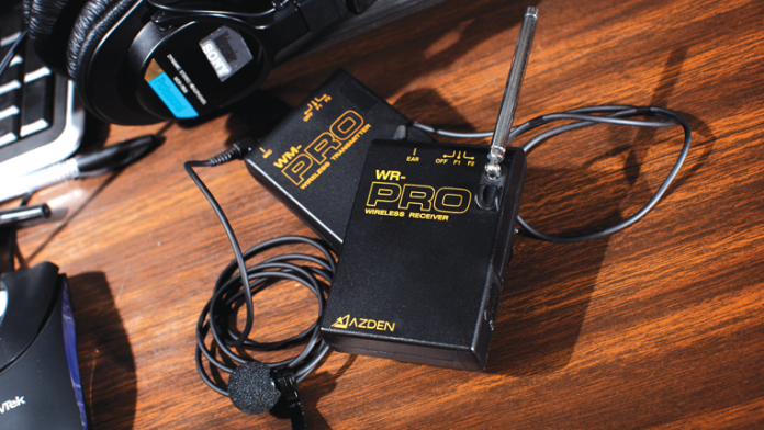 Wireless lav mic transmitter and receiver