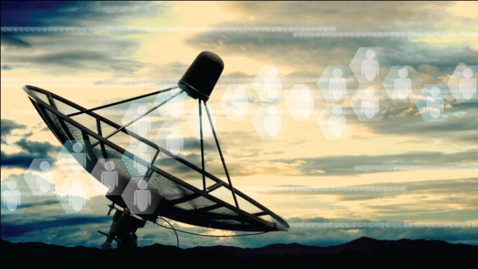 Broadcast satellite dish