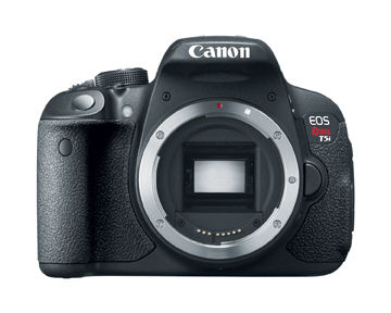 DSLR camera without lens and exposed sensor