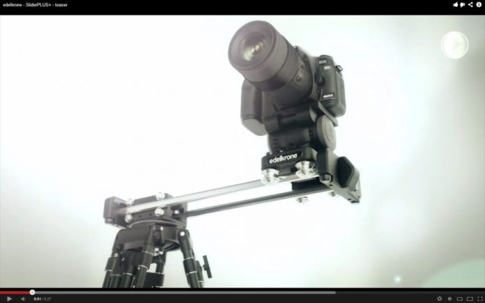 Slider with a camera on it