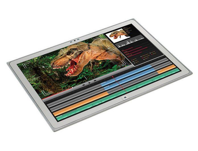 image of dinosaur on tablet
