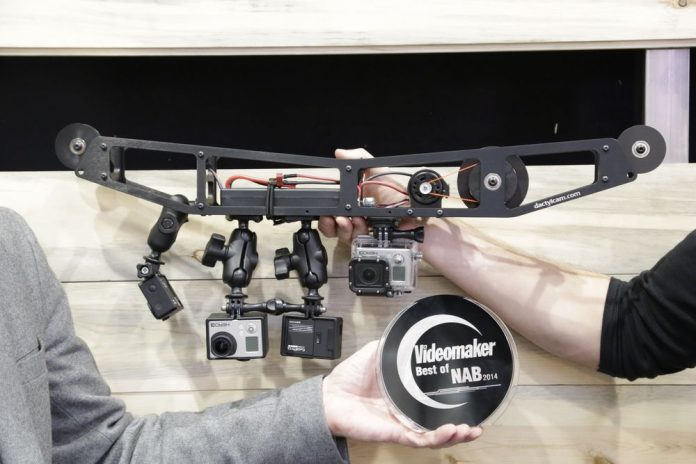 Cable sled with action cameras an award