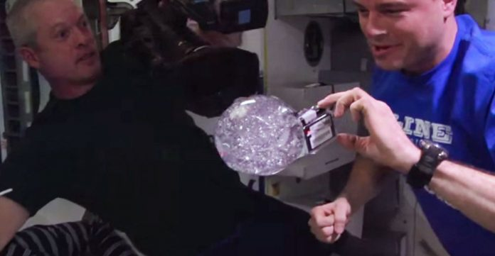 Astronauts Embed GoPro in Zero Gravity Floating Ball of Water
