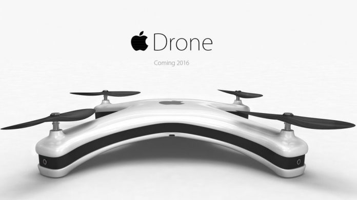 Could this look like an upcoming Apple Drone? Probably not, but we can dream.
