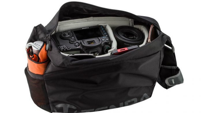 Tenba's completely collapsable camera bag