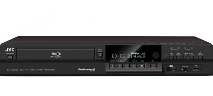 Record directly onto Blu-ray disc with the VC's SR-HD2700 Blu-ray Disc and HDD Combo Deck
