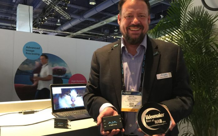AJA receives Best of NAB award