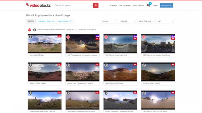 Videoblock 360-degree offerings