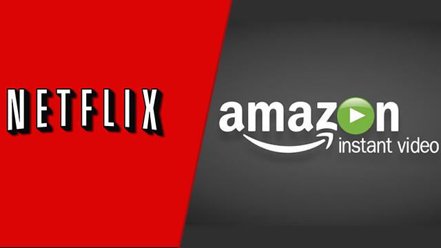 Netflix and Amazon Video logos