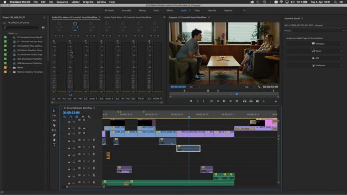 Image of Premiere Pro Essential Sound Panel