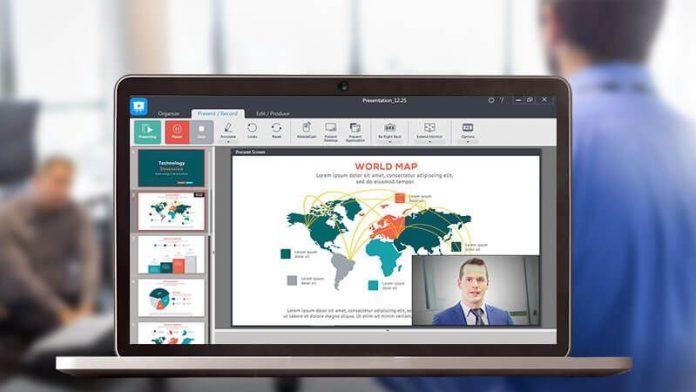 Image of laptop using U Webinar
