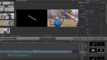FanFilmFX Saber Blade Plug-in in use in FCPX