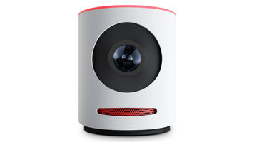 White cylindrical camera