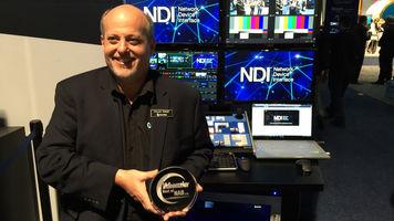 NewTek Accepts Best of NAB Award