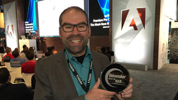Adobe Accepts Best of NAB 2016 Award