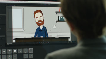 Image of a person working in Adobe Character Animator 1.0
