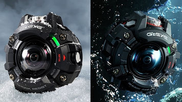 Images of Casio's GZE-1 in the snow and underwater