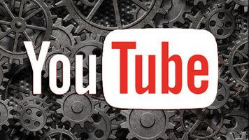 YouTube logo over many gears