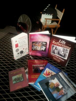 A collection of video production books