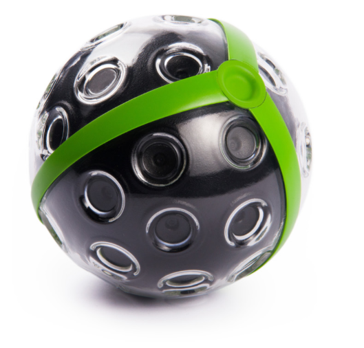 Panono Camera Ball, a bouncable, throwable ball with tiny cameras embedded all over its surface.