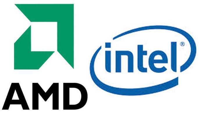 Logos on Intel and AMD
