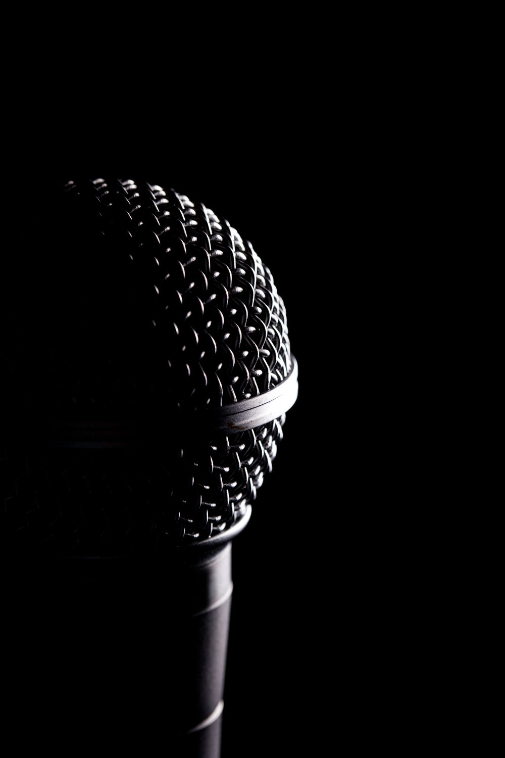 Handheld Microphone close up. Courtesy of Shutterstock