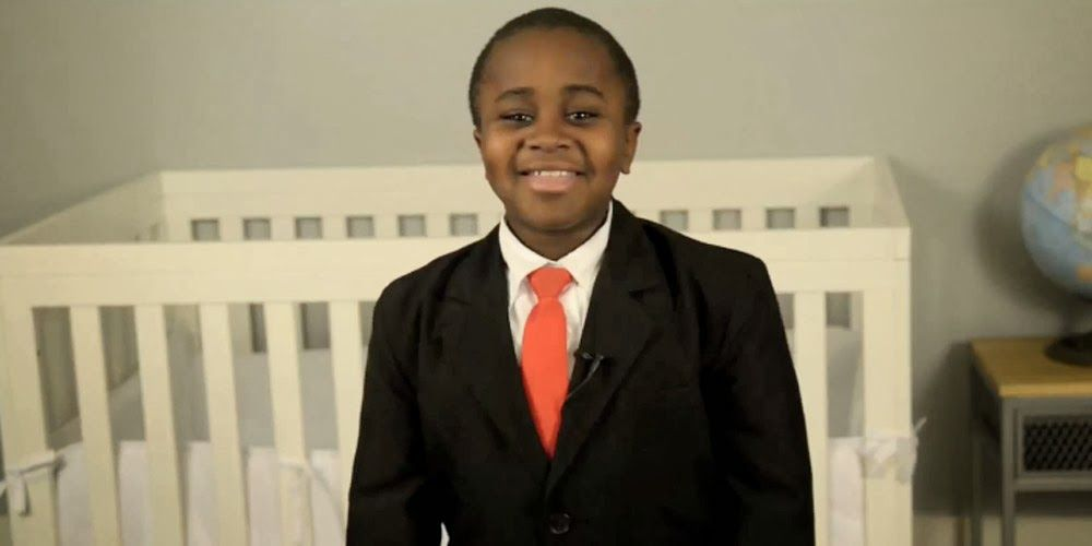 Shot of Kid President, Robby Novak; making the world a better place