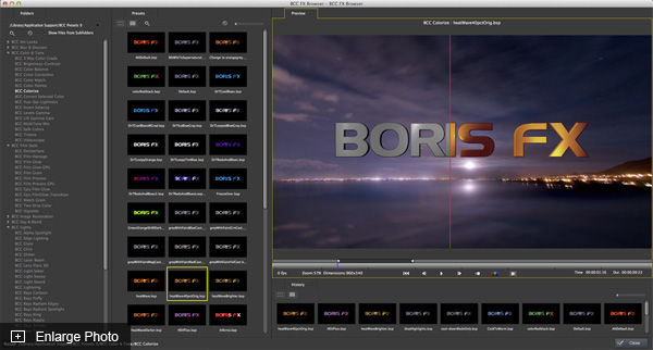 A library sized suite of video effects and transitions