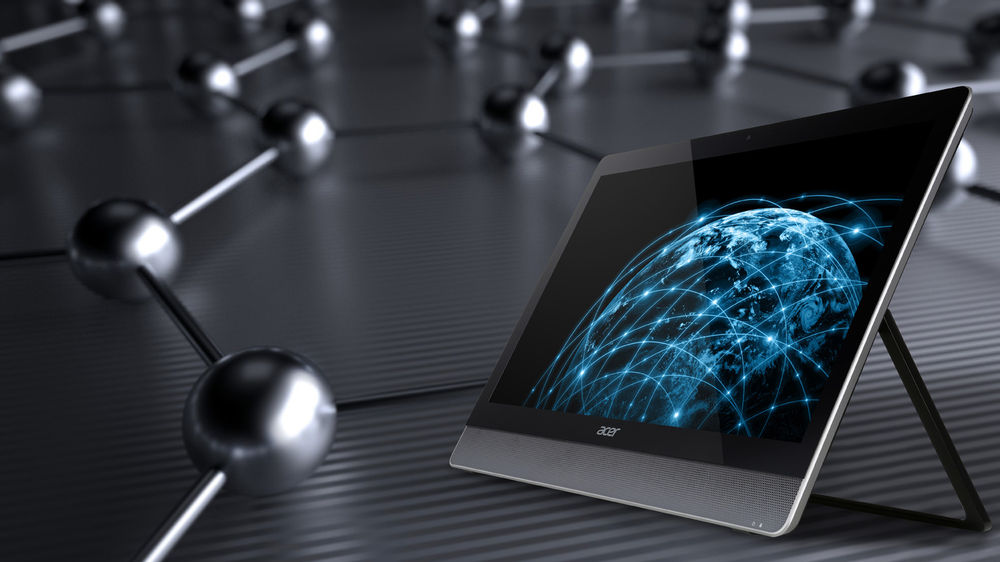 Aspire U5 all-in-one: A 23-inch all-in-one touch-screen PC running Windows 8.1.