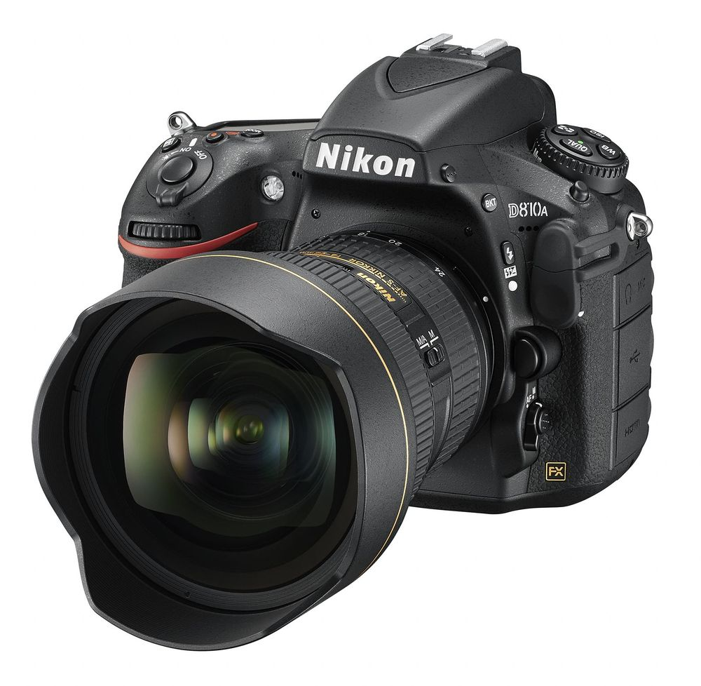 The Nikon D810A, a model optimized for astrophotography and other scientific applications