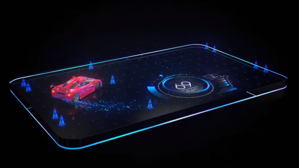 Computer concept art of holographic screen