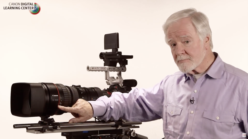 Larry Thorpe with Canon's CINE-SERVO 50-1000mm t5.0-8.9 Ultra-Telephoto Zoom Lens