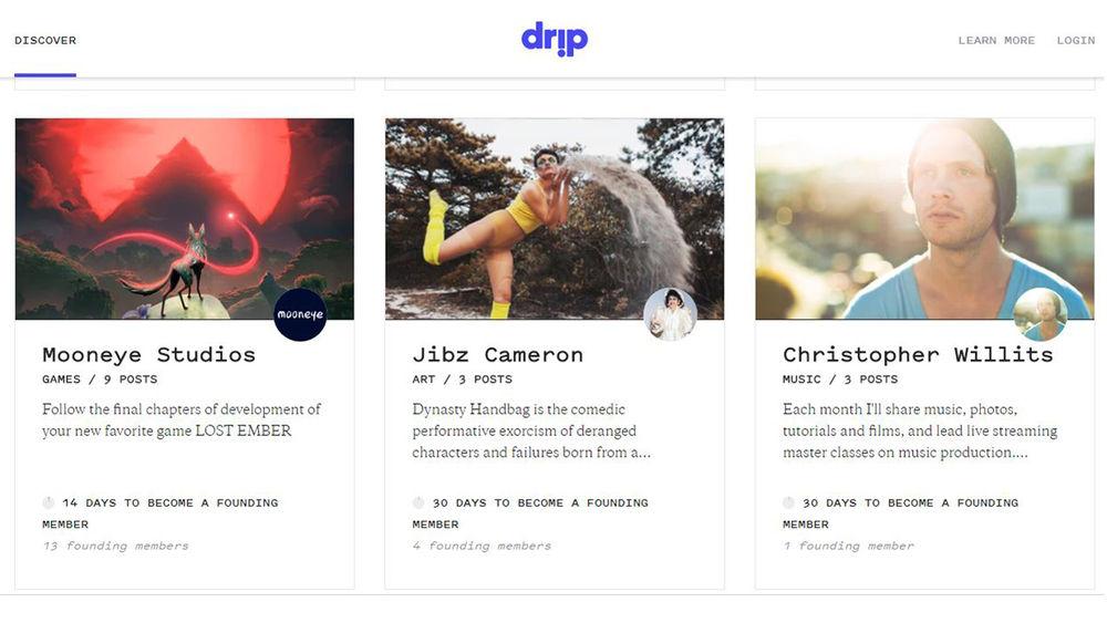 Three projects on Drip