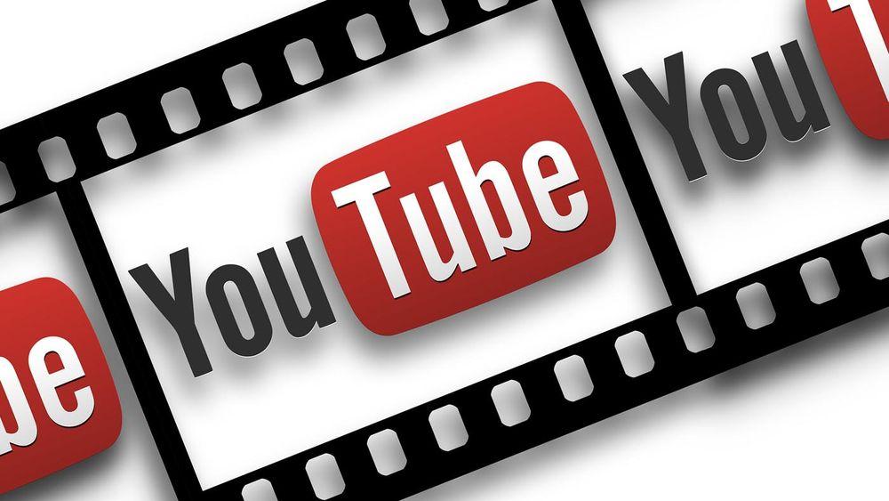 YouTube logo on roll of film