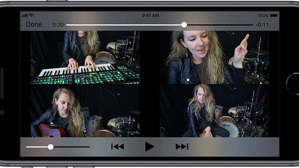 With the 4quickly XCAMERA app, Roland says that you can and easily make split screen videos to share online