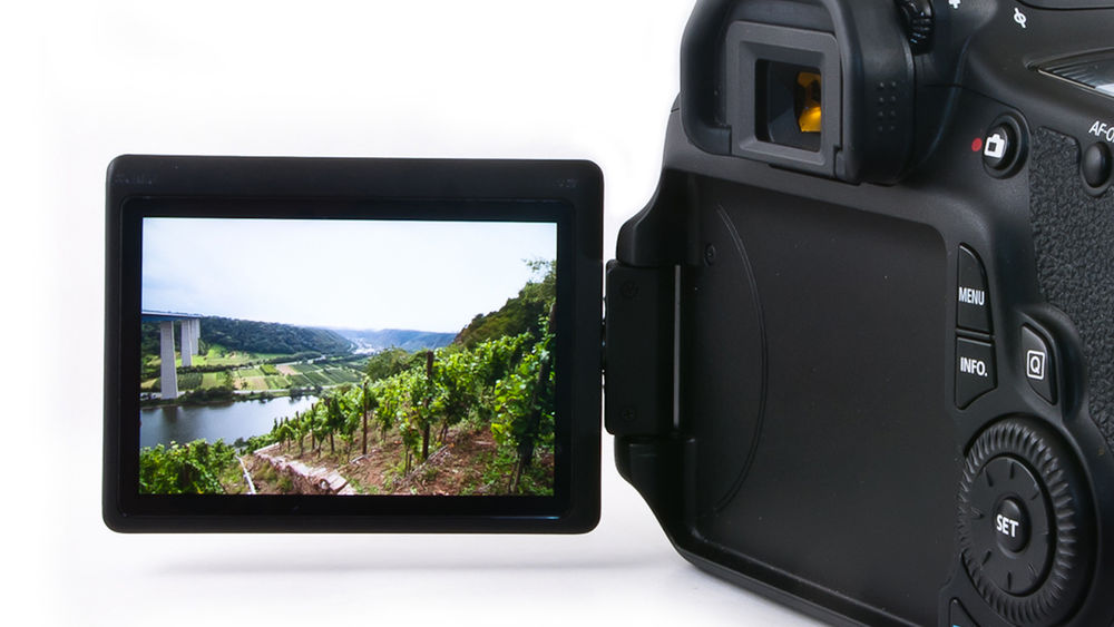 LCD camera screen with an image on it