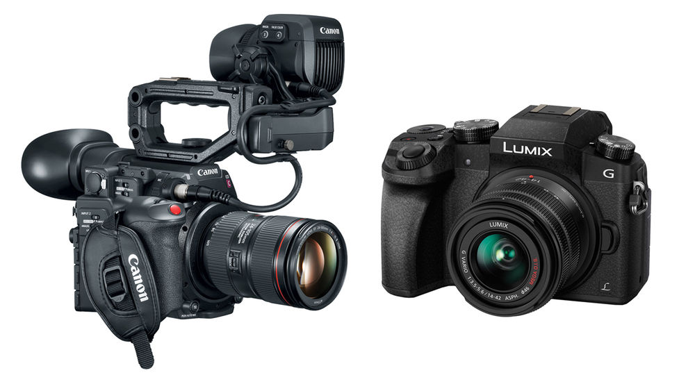 The Canon C200  and the Panasonic G7