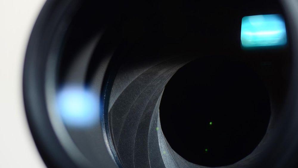 Close shot of an aperture