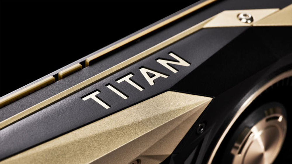 Close shot of the Titan V