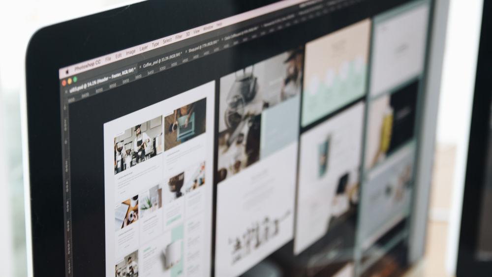 Close shot of a computer screen