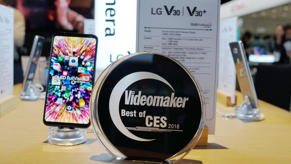 LG V30 with Videomaker Award