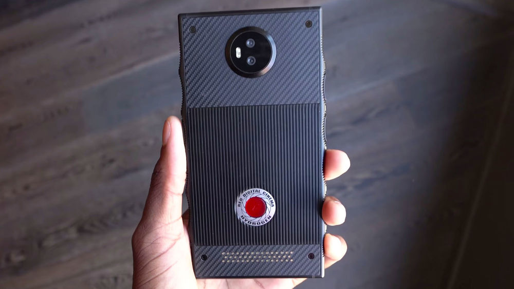 RED's Hydrogen One being held in one hand